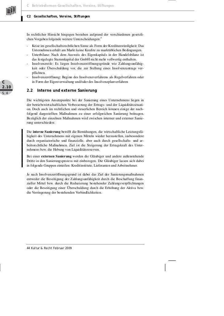 C Betriebsformen-Gesellschaften, Vereine, Stiftungen       C2 Gesellschaften, Vereine, Stiftungen       In rechtlicher Hin...