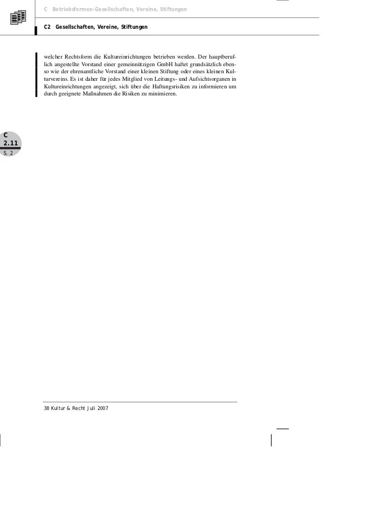 Köster: Haftung von Leitungs- und Aufsichtsorganen in Kultureinrichtungen Slide 2