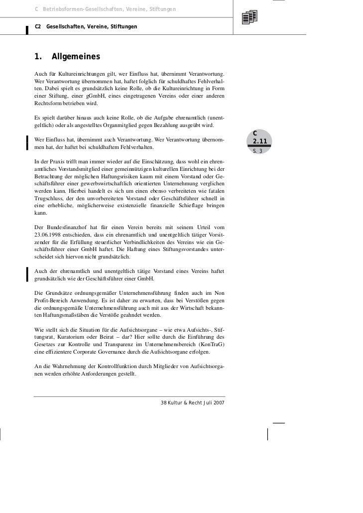 Köster: Haftung von Leitungs- und Aufsichtsorganen in Kultureinrichtungen Slide 3