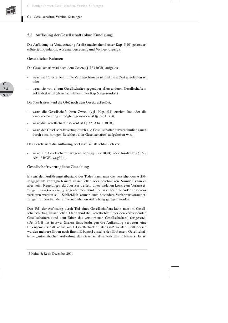 Brox Lenke Die Gesellschaft Bürgerlichen Rechts Teil 2