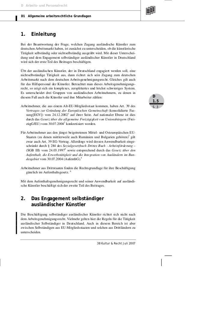 D Arbeits- und PersonalrechtD1 Allgemeine arbeitsrechtliche Grundlagen1.     EinleitungBei der Beantwortung der Frage, wel...