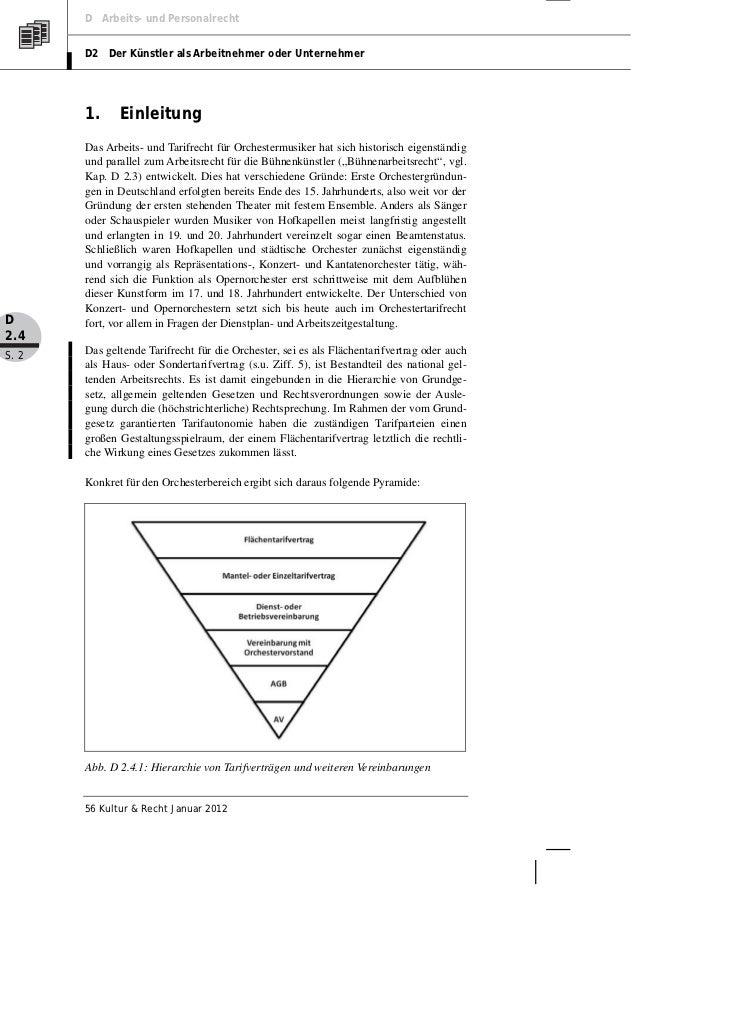 Mertens: Orchesterarbeitsrecht. Der Tarifvertrag für Musiker in Kulturorchestern (TVK) Slide 2
