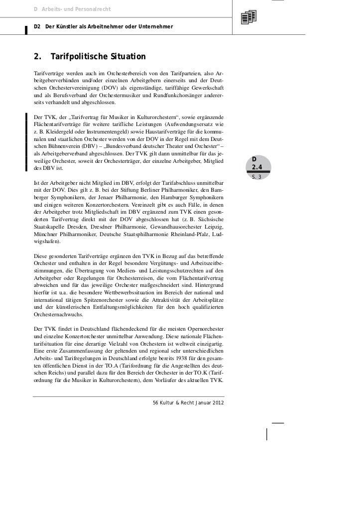 Mertens: Orchesterarbeitsrecht. Der Tarifvertrag für Musiker in Kulturorchestern (TVK) Slide 3