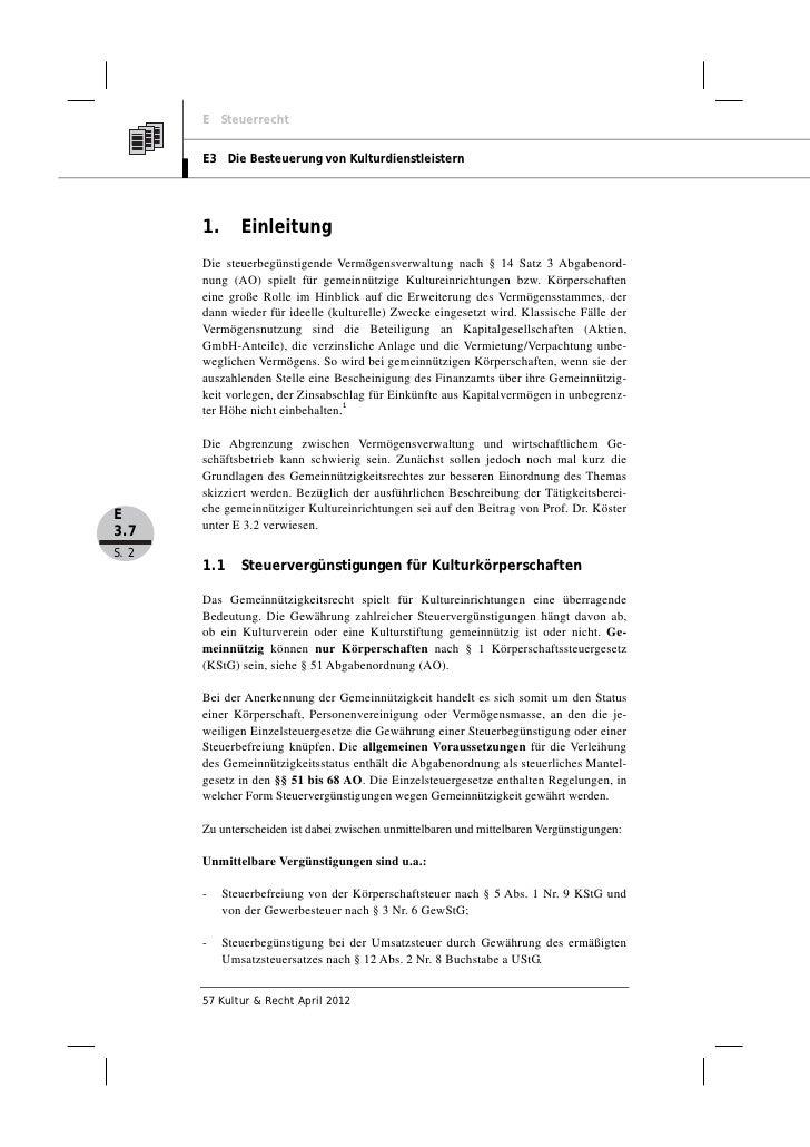 Mandy Risch, Andreas Kerst: Die steuerbegünstigte Vermögensverwaltung gemeinnütziger Kultureinrichtungen Slide 2