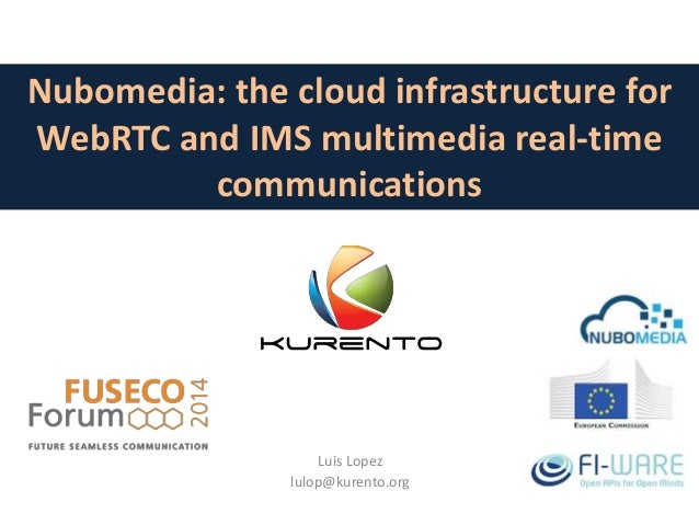 Nubomedia: the cloud infrastructure for  WebRTC and IMS multimedia real-time  communications  Luis Lopez  lulop@kurento.or...