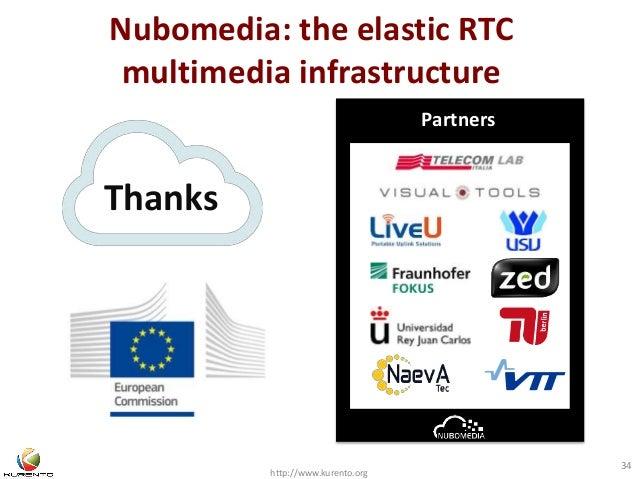 Nubomedia: the elastic RTC  multimedia infrastructure  http://www.kurento.org  34  Thanks  Partners