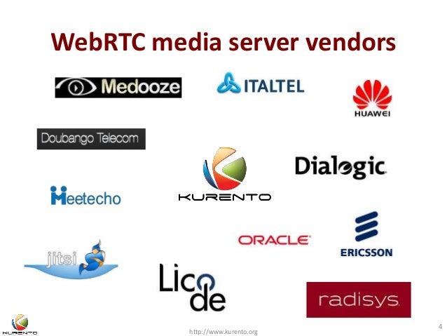 WebRTC media server vendors  http://www.kurento.org  4