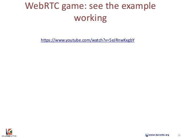 www.kurento.org WebRTC game: see the example working 39 https://www.youtube.com/watch?v=5eJRnwKxgbY 39