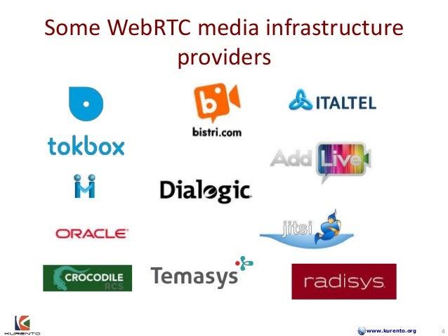www.kurento.org Some WebRTC media infrastructure providers 4