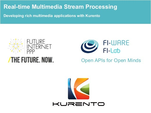 Open APIs for Open Minds Real-time Multimedia Stream Processing Developing rich multimedia applications with Kurento