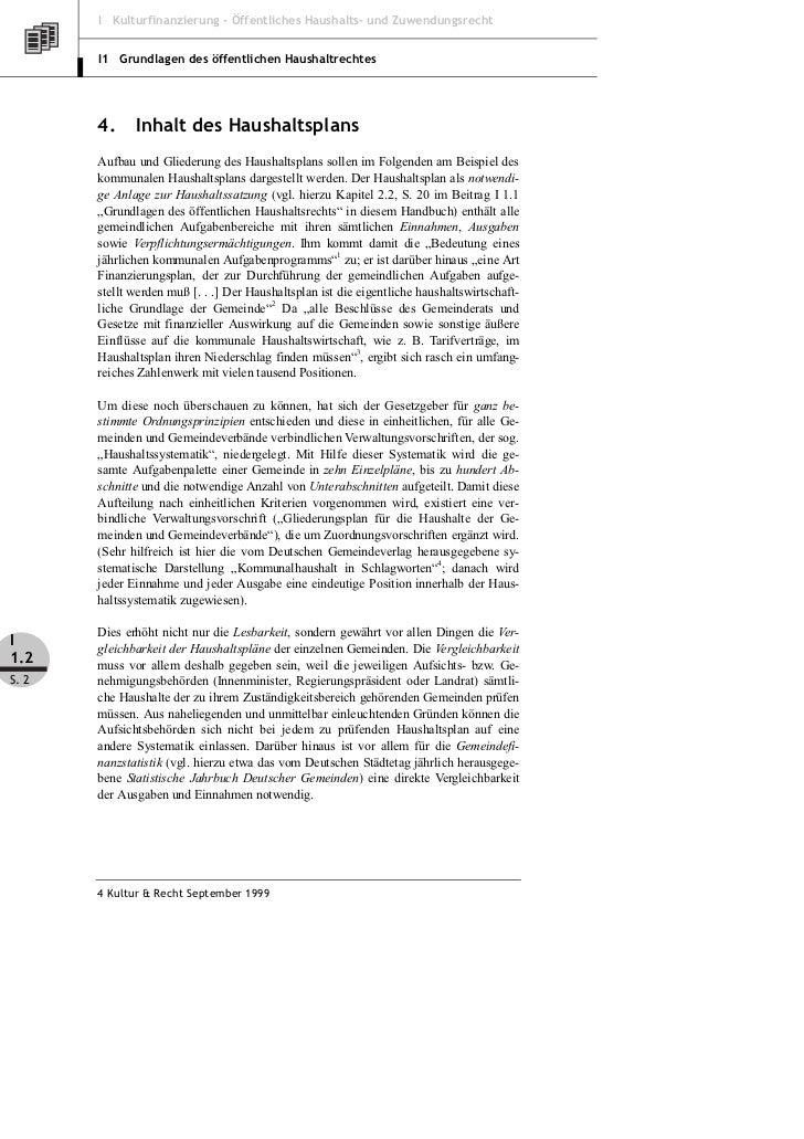 Klein: Grundlagen des öffentlichen Haushaltsrecht – Teil 2 Slide 2