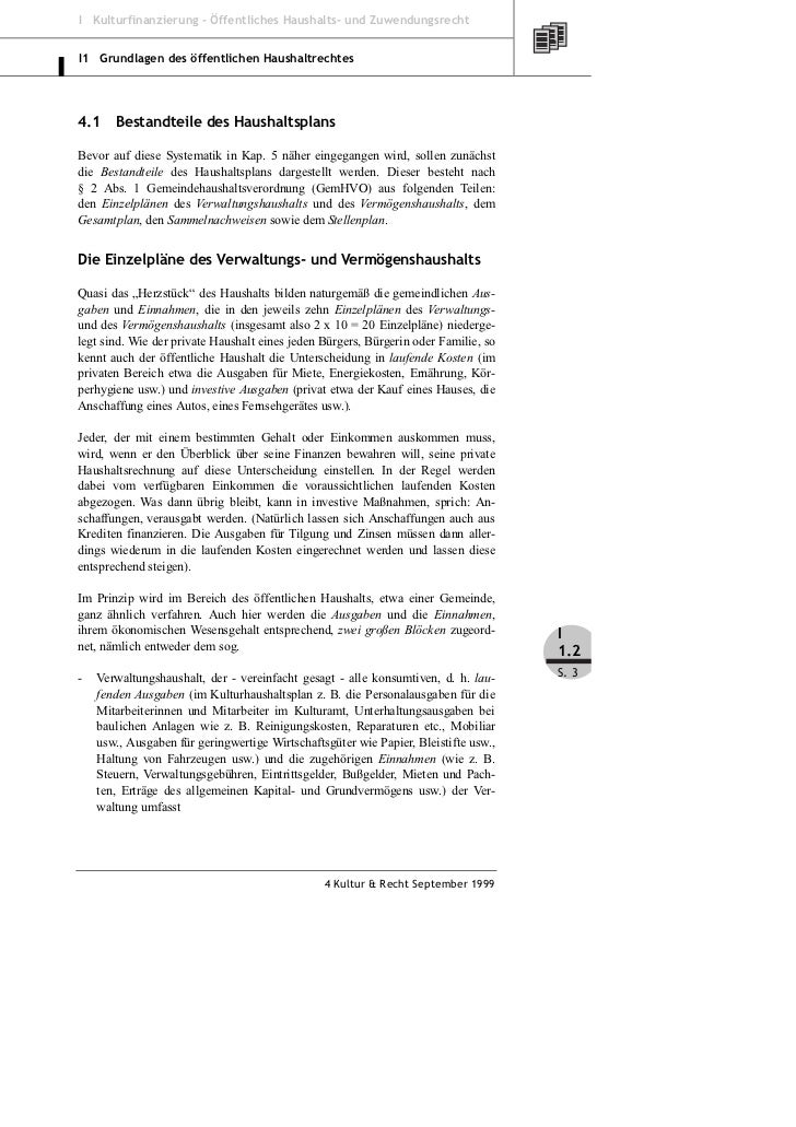 Klein: Grundlagen des öffentlichen Haushaltsrecht – Teil 2 Slide 3