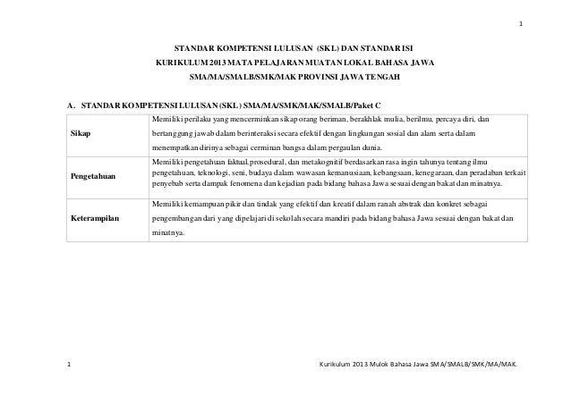 Kurikulum 2013 Bahasa Jawa Sma Smk Ma Sekolahsdmi Blogspot Com