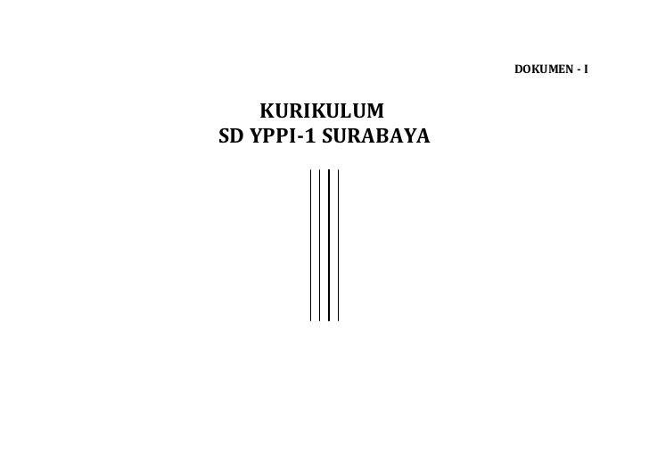DOKUMEN - I    KURIKULUMSD YPPI-1 SURABAYA