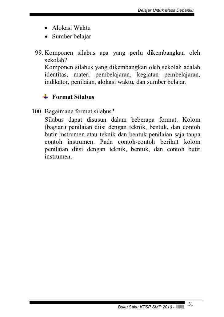 Kurikulum tingkat satuan pendidikan (ktsp) smp