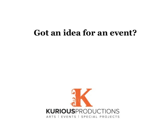 Got an idea for an event?