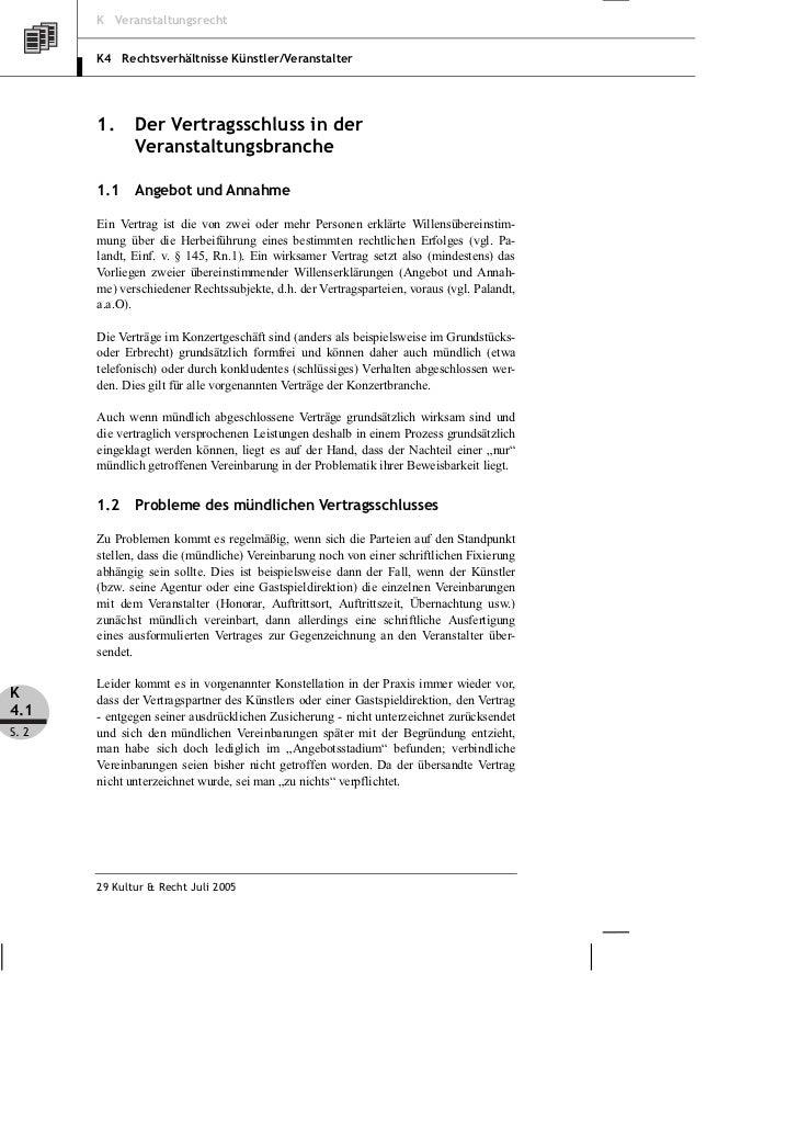 Michow Die Vertragsrechtlichen Besonderheiten Der Veranstaltungsbran