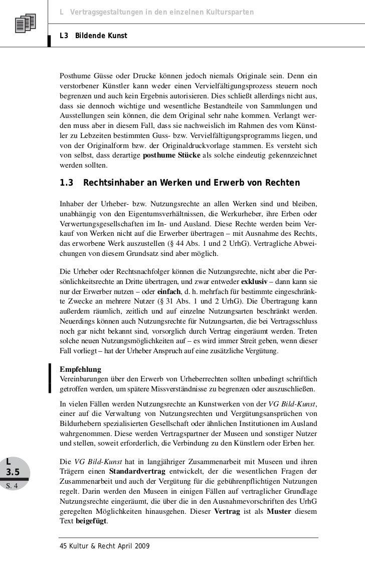 Prof. Dr. Gerhard Pfennig: Urheberrecht im Museum: Der Museumsvertrag