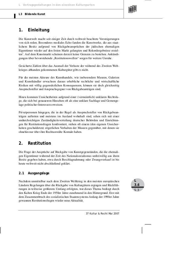 Von Selle: Rückgabe von Kulturgütern Slide 3