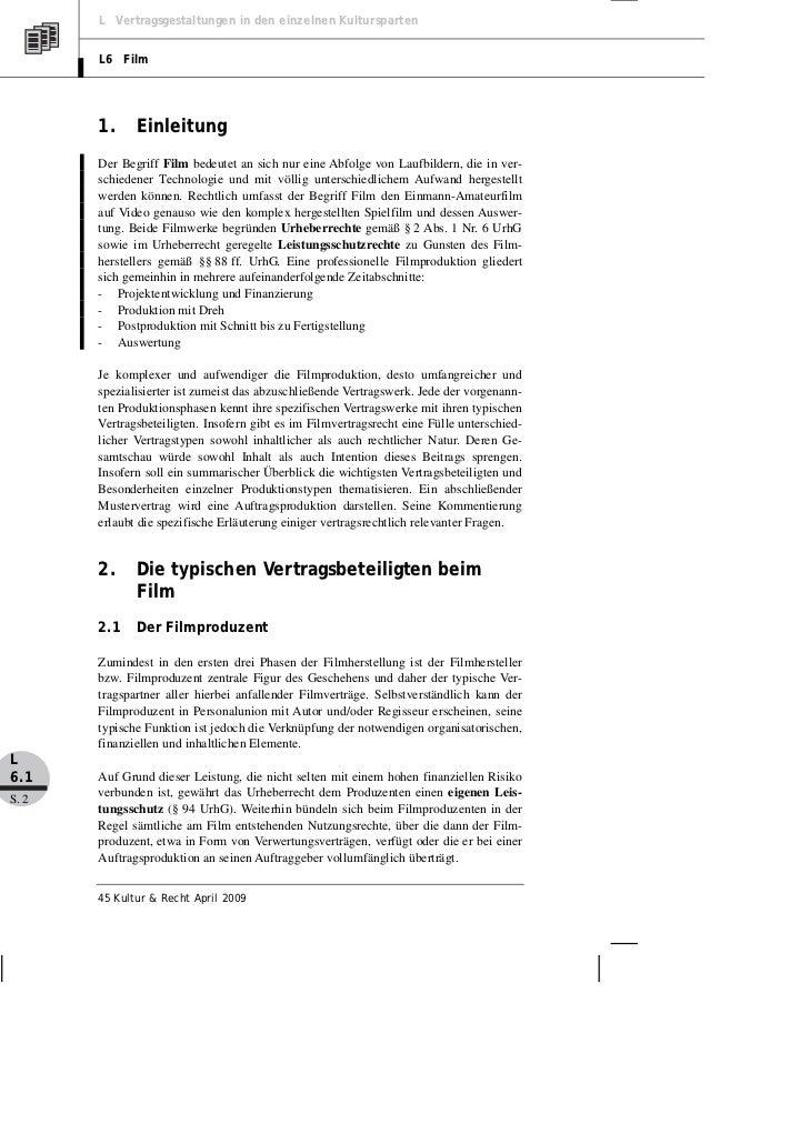 Müller Verträge Der Filmproduktion