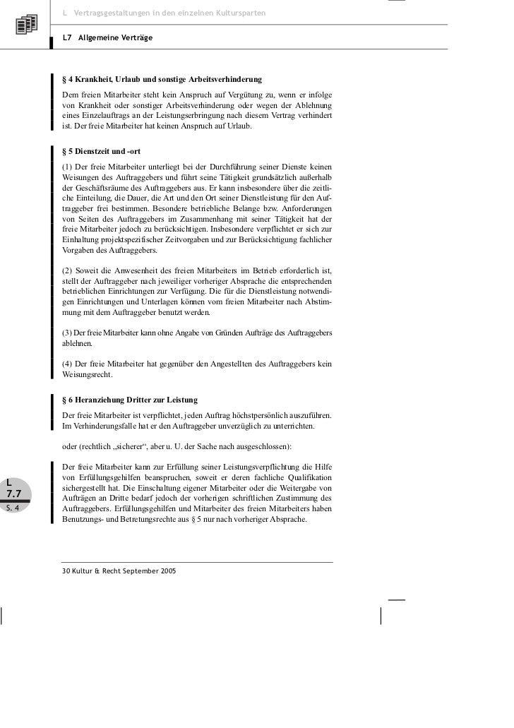 Brune Vertragsmuster über Freie Mitarbeit