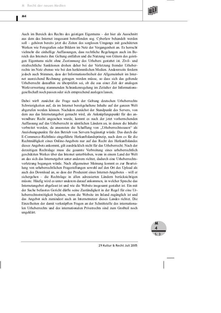 Goldmann: Urheberrechtliche Probleme im Internet – Teil 1 Slide 3