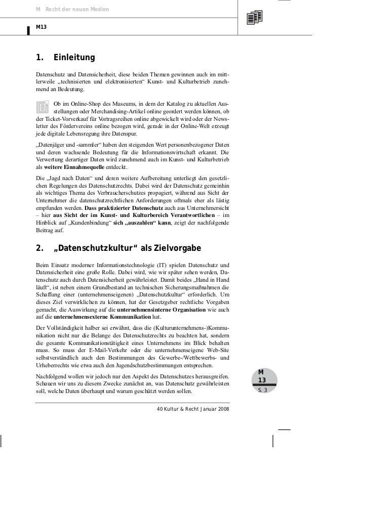 """Von der Horst: Vom Datenschutz und der Datensicherheit zur """"Datenschutzkultur"""" Slide 3"""