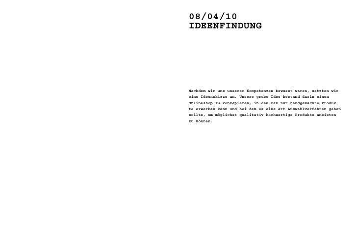 15/04/10 das GesCHäFtsmOdell     Wir haben noch ein mal gruppenintern unsere idee eines handma- de-onlineshops durchgespro...