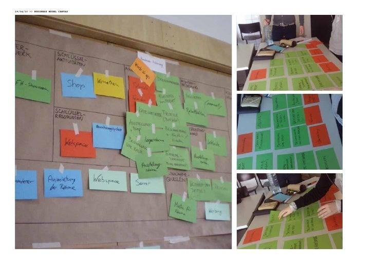 06/05/10 Business mOdel Canvas     in der dritten Woche des Business model Canvas Aufbaus wurde dieses abgeschlossen, inde...