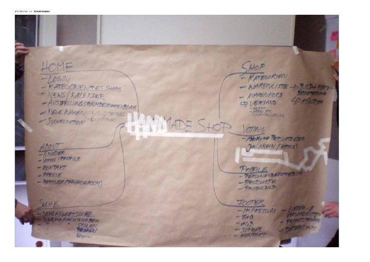 10/06/10 WiReFRames     Als erstes gestalteten wir den prototypen der Website für un- seren handmade-onlineshop, also das ...
