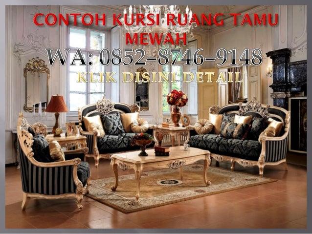 Kursi tamu mewah dan elegan