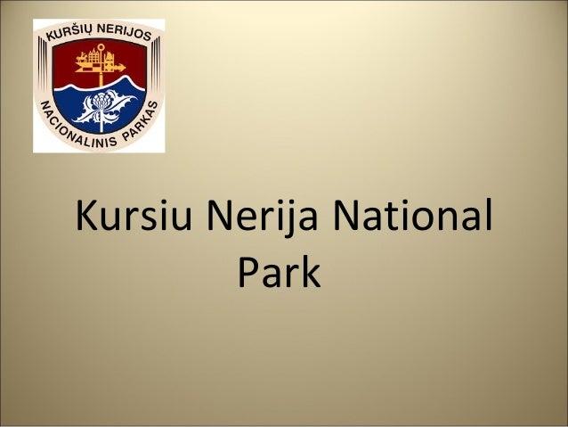 Kursiu Nerija National Park