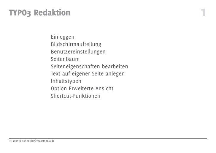 TYPO3 Redaktion                                               1                              Einloggen                    ...