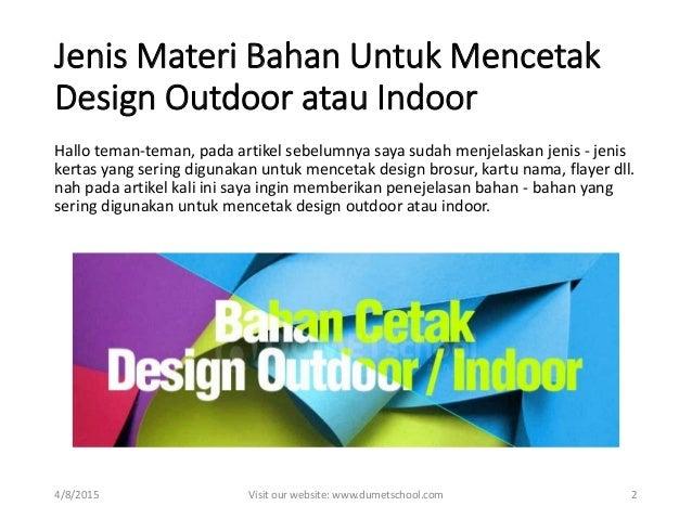 Www Kursus Desain Grafis Jenis Materi Bahan Mencetak Design Outdo