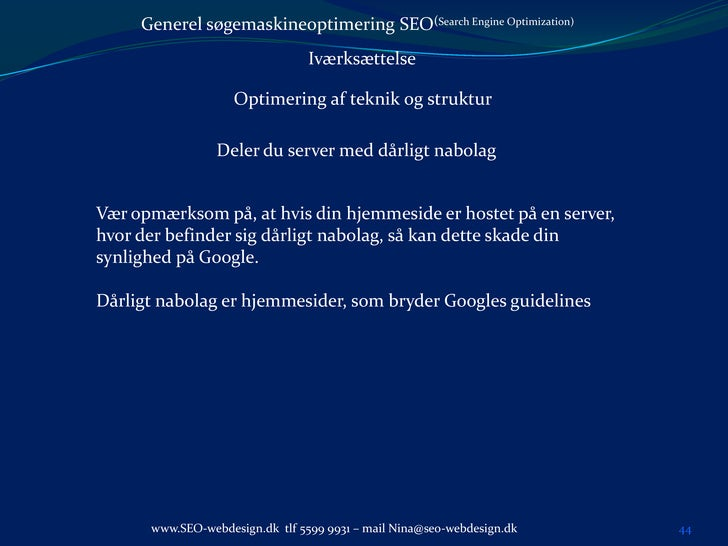 Kursus i generel søgemaskineoptimering mini