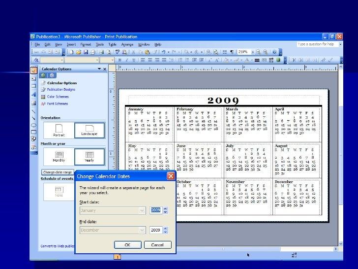 microsoft calendar wizard