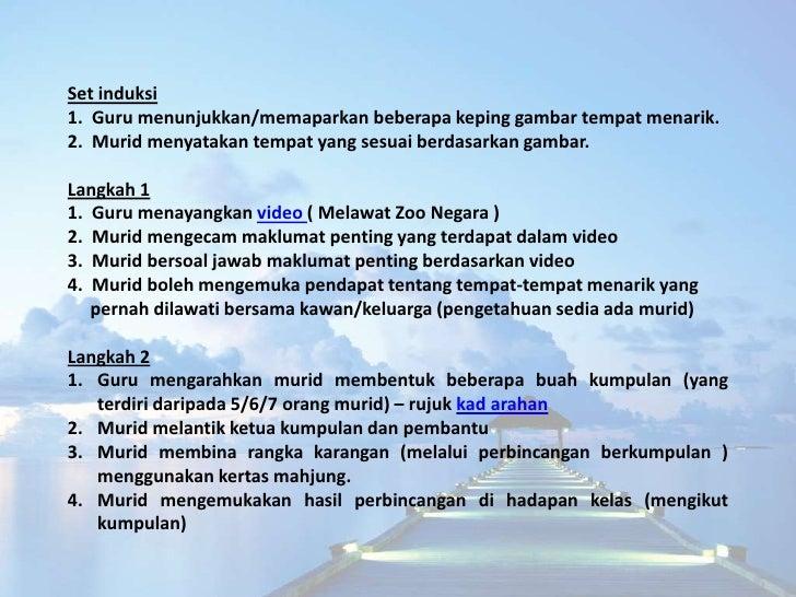 Langkah 31. Guru menerangkan tugasan yang perlu dilakukan oleh setiap kumpulan2. Guru memaparkan maklumat tentang cara-car...