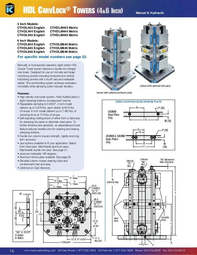 Kurt HDLM4C-JAWKIT Ductile Iron Machinable Jaw Kit 4 Size