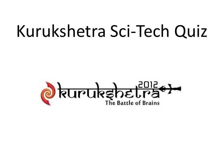 Kurukshetra Sci-Tech Quiz