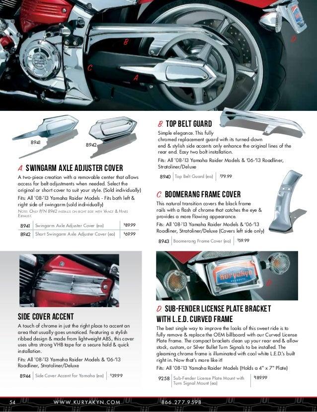 Kuryakyn 4010 Light Bar Mounting Bracket for Yamaha Raider