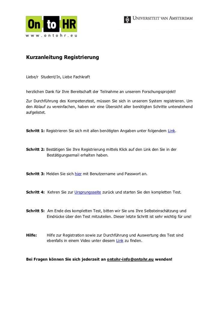 Kurzanleitung RegistrierungLiebe/r Student/In, Liebe Fachkraftherzlichen Dank für Ihre Bereitschaft der Teilnahme an unser...