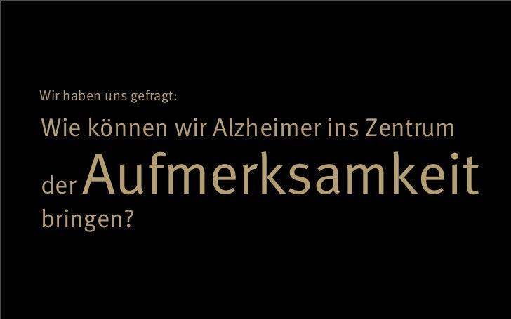 Deutsche Alzheimer Gesellschaft - Case Slide 2