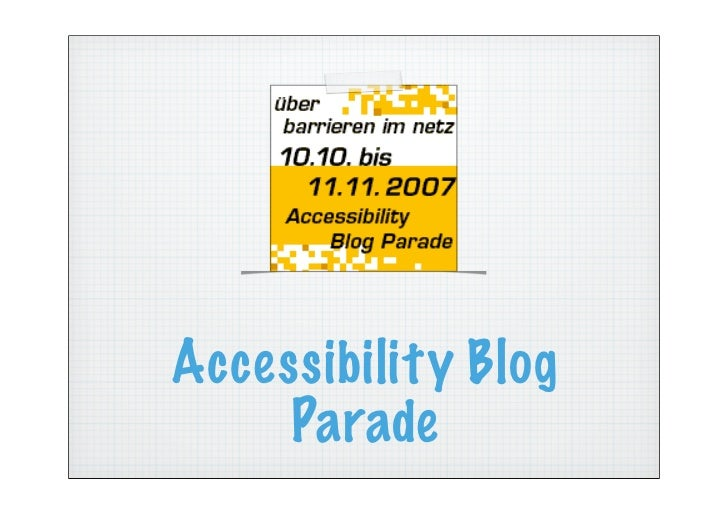 Accessibility Blog      Parade