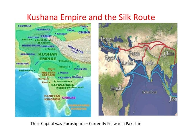 Kushan empire map