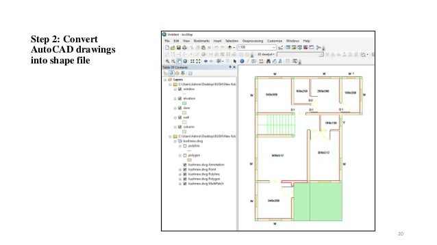 Step 2: Convert AutoCAD drawings into shape file 20
