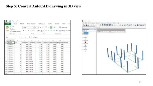 Step 5: Convert AutoCAD drawing in 3D view 24