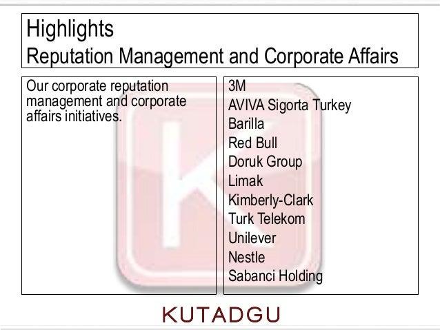 HighlightsReputation Management and Corporate AffairsOur corporate reputation   3Mmanagement and corporate   AVIVA Sigorta...