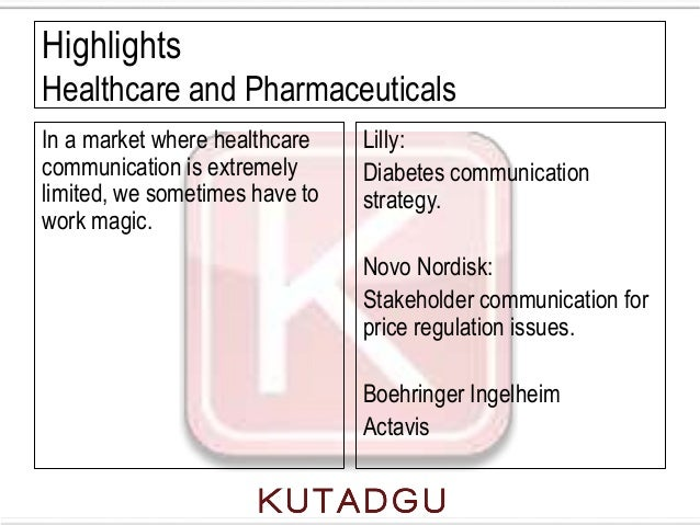 HighlightsHealthcare and PharmaceuticalsIn a market where healthcare    Lilly:communication is extremely      Diabetes com...