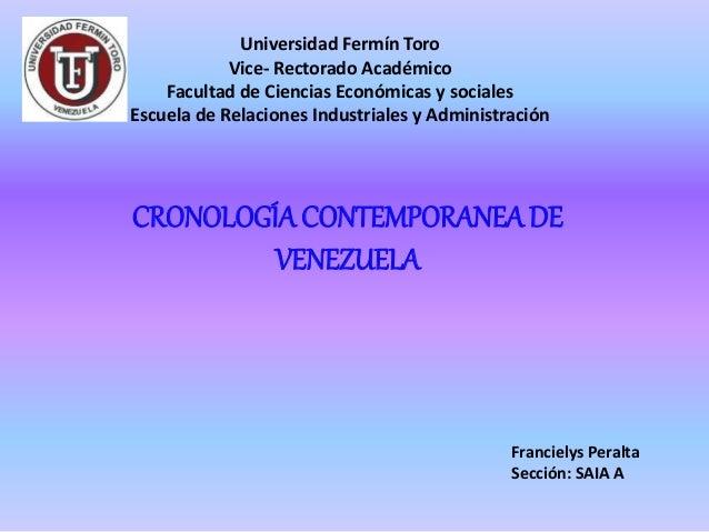 Universidad Fermín Toro Vice- Rectorado Académico Facultad de Ciencias Económicas y sociales Escuela de Relaciones Industr...