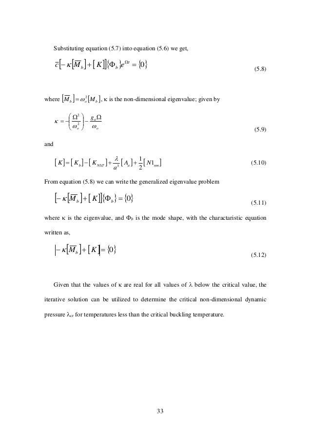 33 Substituting equation (5.7) into equation (5.6) we get,        0 t bb eKMc  (5.8) where    bob MM ...